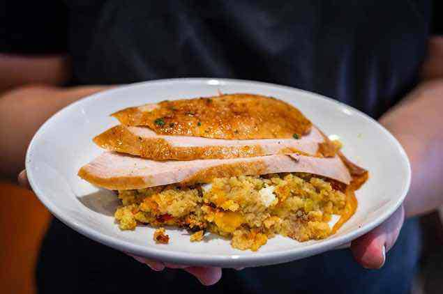 Harry's Turkey and Dressing Plate